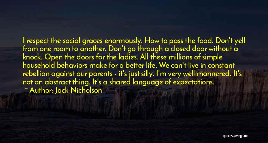 Life's An Open Door Quotes By Jack Nicholson