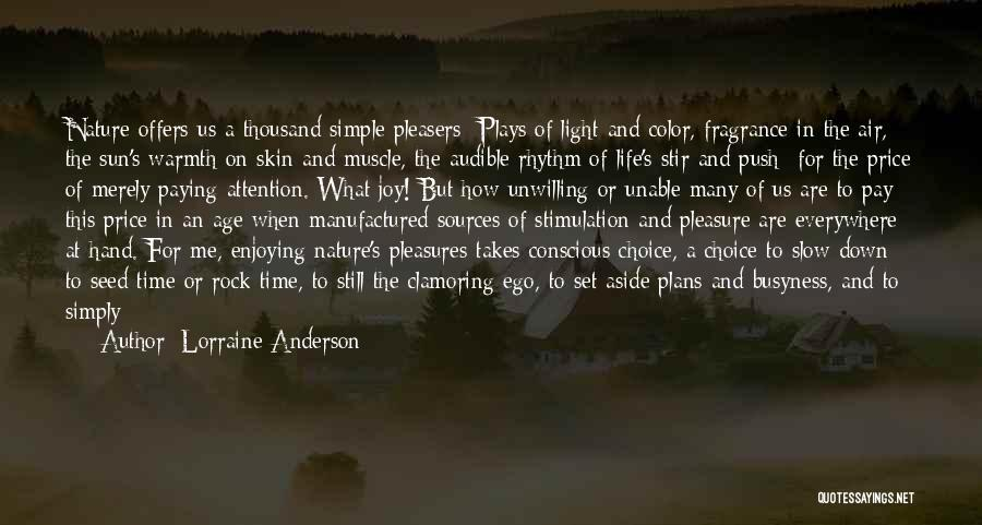 Life's Simple Pleasure Quotes By Lorraine Anderson