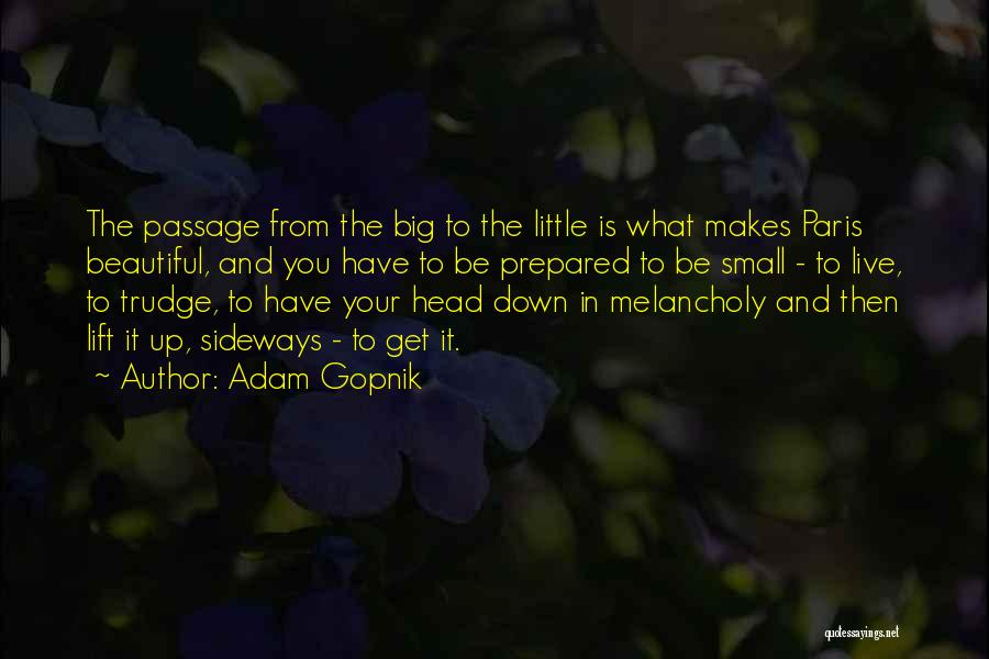 Lift Your Head Up Quotes By Adam Gopnik