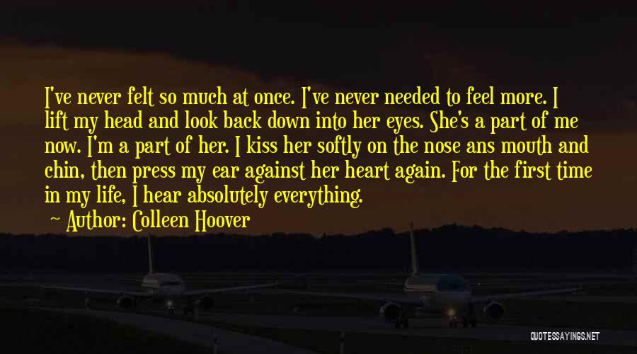 Lift Your Head Up Quotes By Colleen Hoover