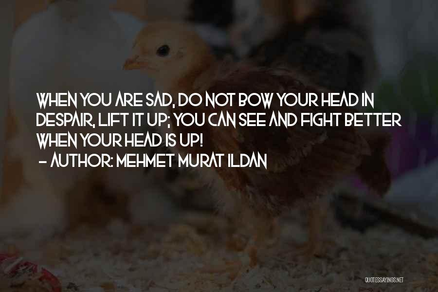 Lift Your Head Up Quotes By Mehmet Murat Ildan