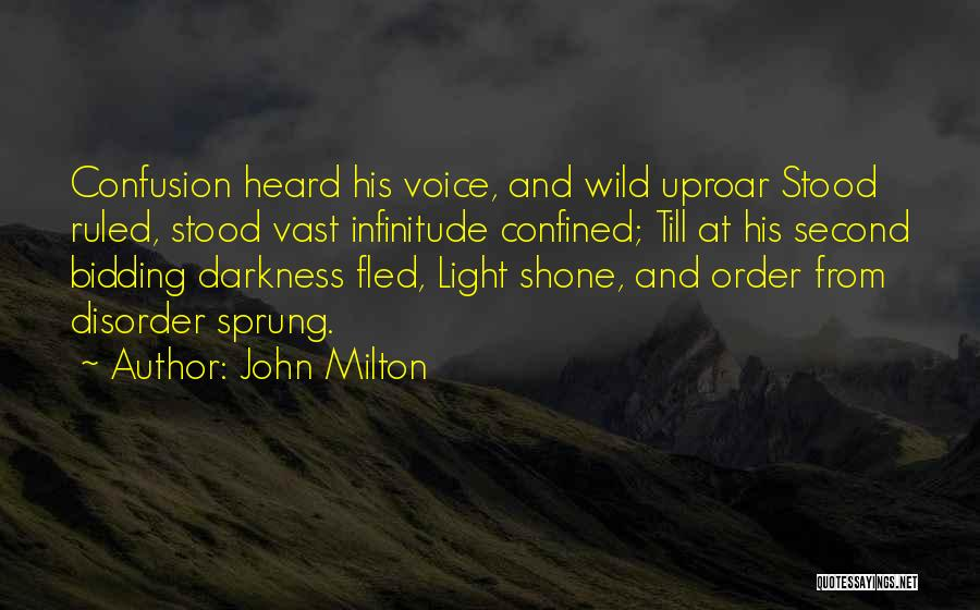 Light And Darkness Quotes By John Milton