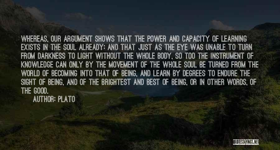 Light And Darkness Quotes By Plato