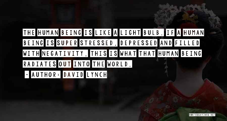 Light Bulb Quotes By David Lynch