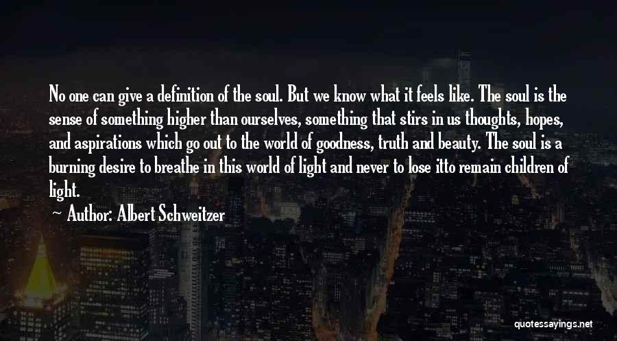 Light In The Soul Quotes By Albert Schweitzer