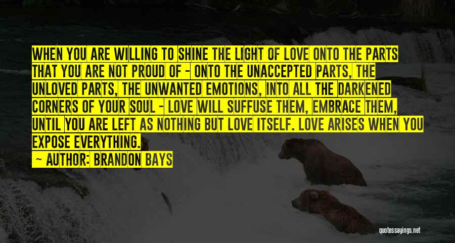 Light Of Your Soul Quotes By Brandon Bays