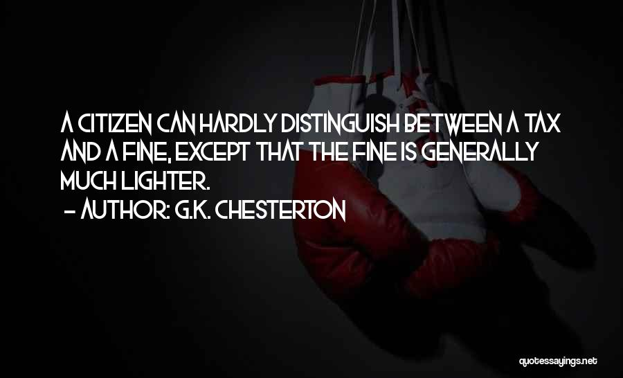 Lighter Quotes By G.K. Chesterton