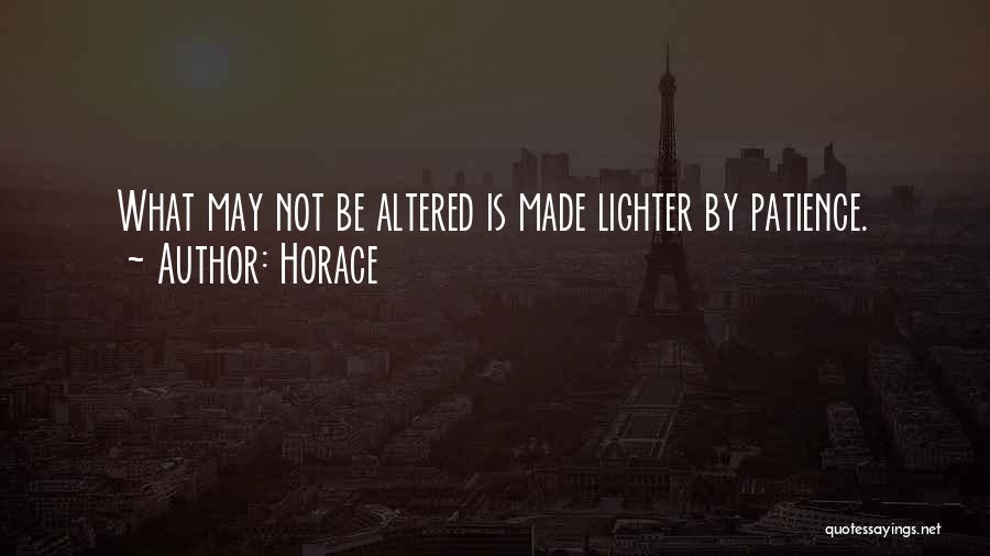 Lighter Quotes By Horace