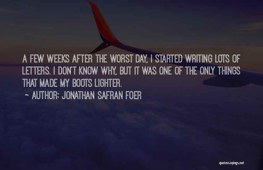 Lighter Quotes By Jonathan Safran Foer