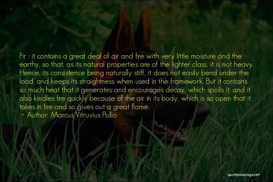 Lighter Quotes By Marcus Vitruvius Pollio