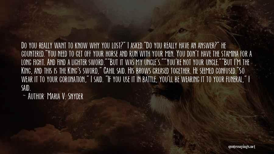 Lighter Quotes By Maria V. Snyder
