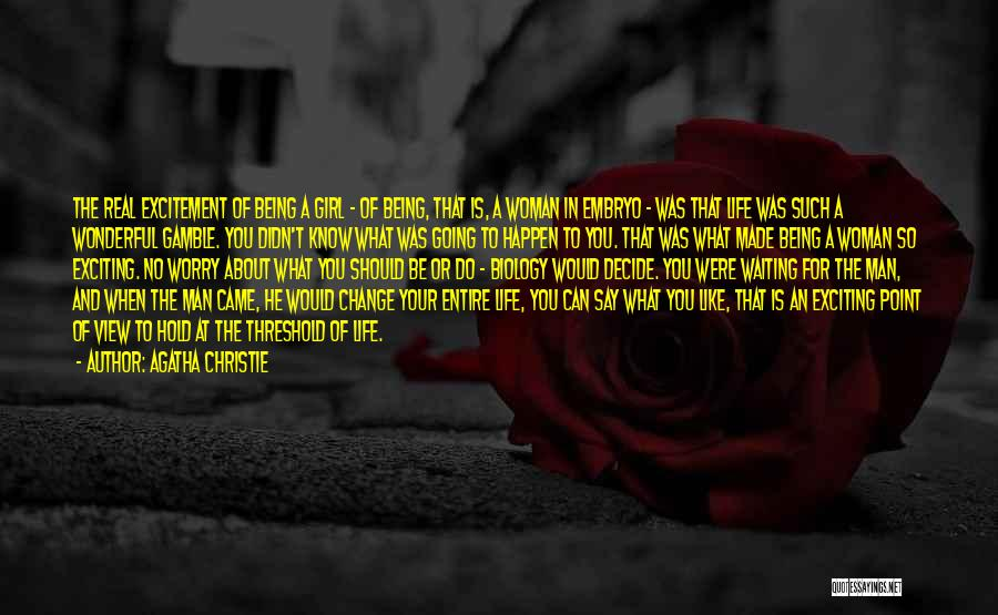 Like A Girl Quotes By Agatha Christie