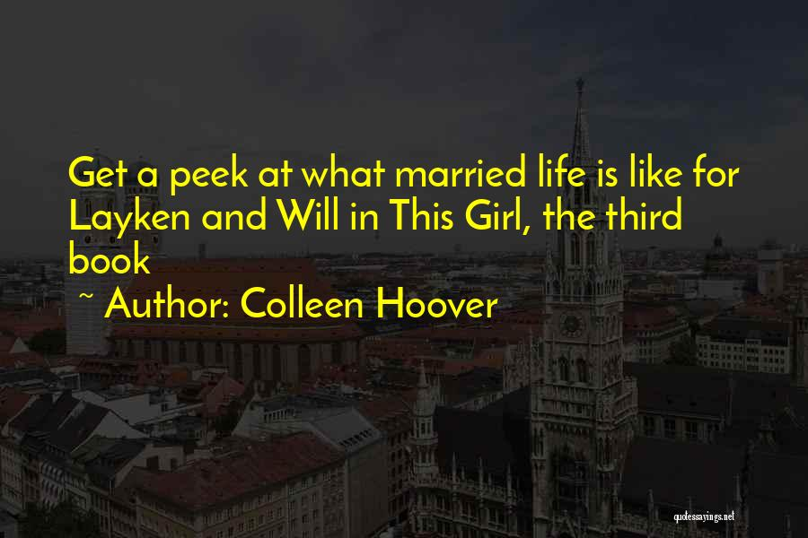 Like A Girl Quotes By Colleen Hoover