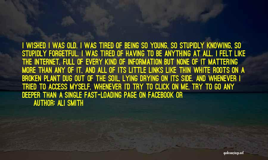 Like My Facebook Page Quotes By Ali Smith