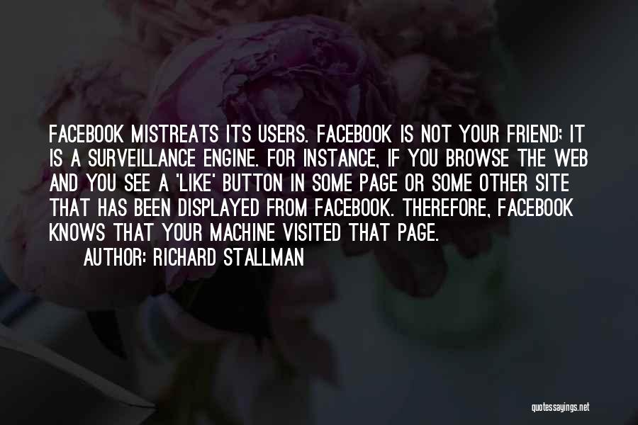 Like My Facebook Page Quotes By Richard Stallman