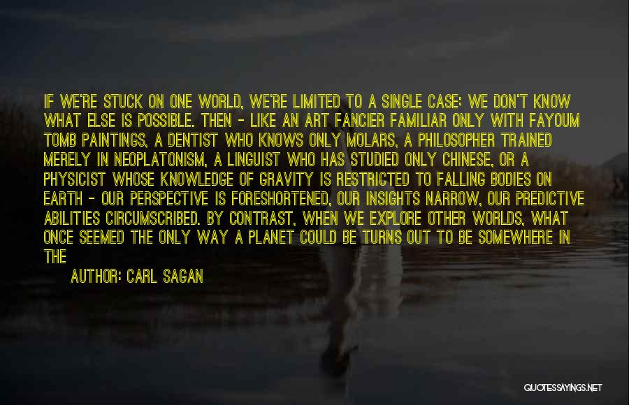 Limited Perspective Quotes By Carl Sagan