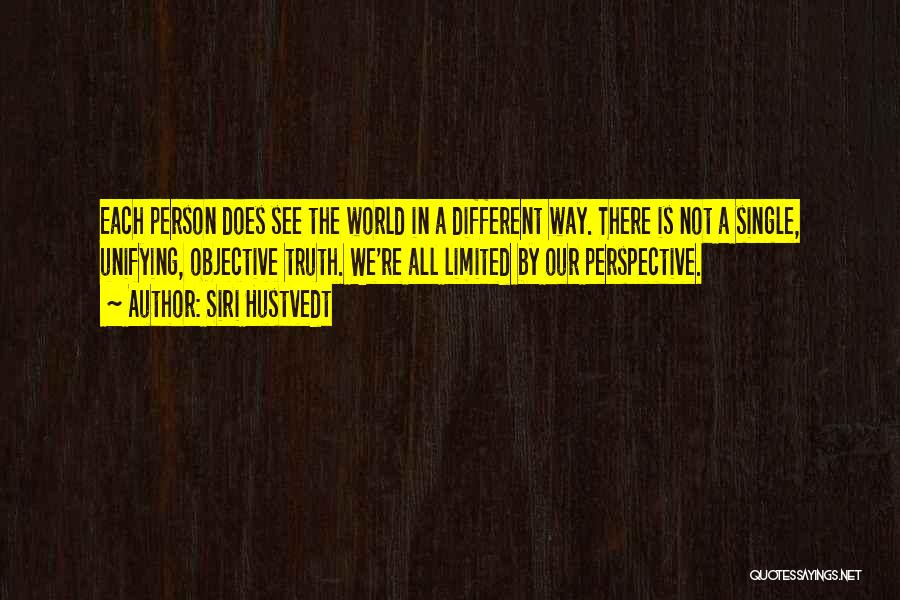 Limited Perspective Quotes By Siri Hustvedt