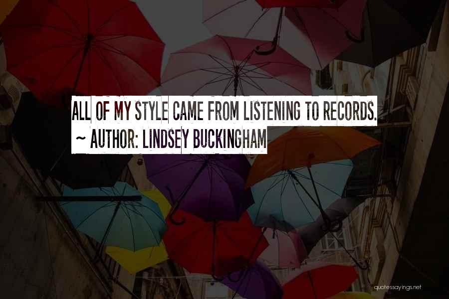 Lindsey Buckingham Quotes 1871219