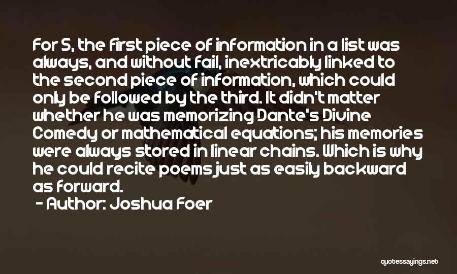 Linear Equations Quotes By Joshua Foer