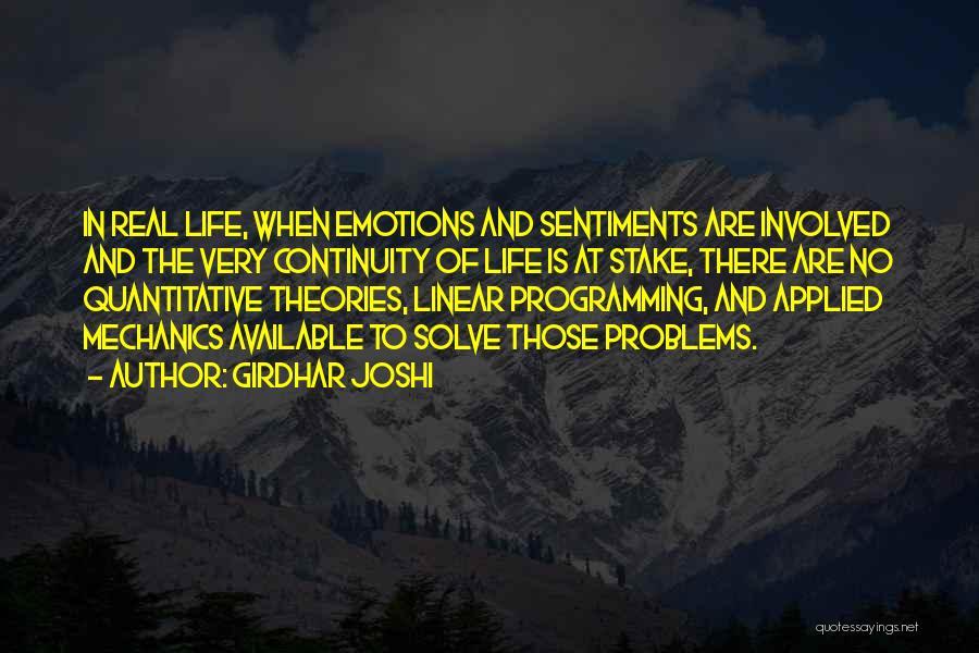 Linear Programming Quotes By Girdhar Joshi