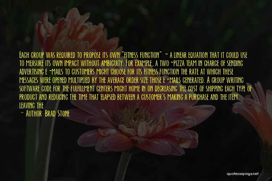 Linear Time Quotes By Brad Stone