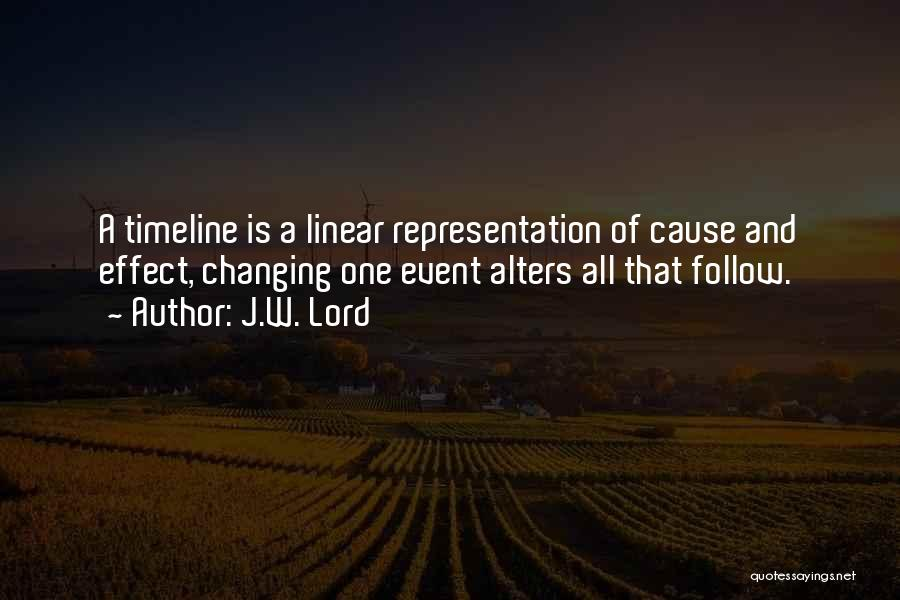 Linear Time Quotes By J.W. Lord