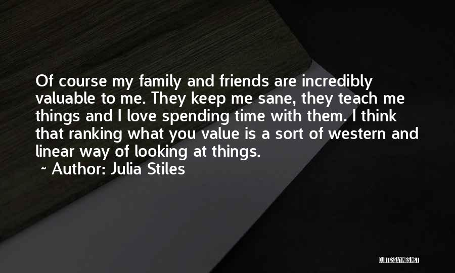 Linear Time Quotes By Julia Stiles