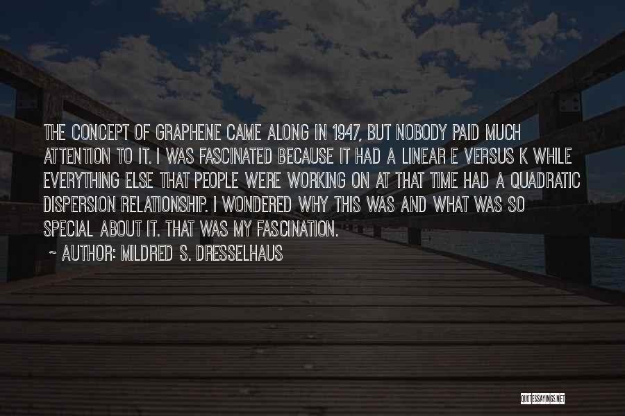 Linear Time Quotes By Mildred S. Dresselhaus