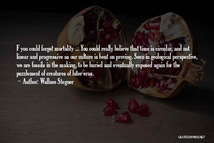 Linear Time Quotes By Wallace Stegner
