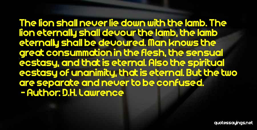 Lion And Lamb Quotes By D.H. Lawrence
