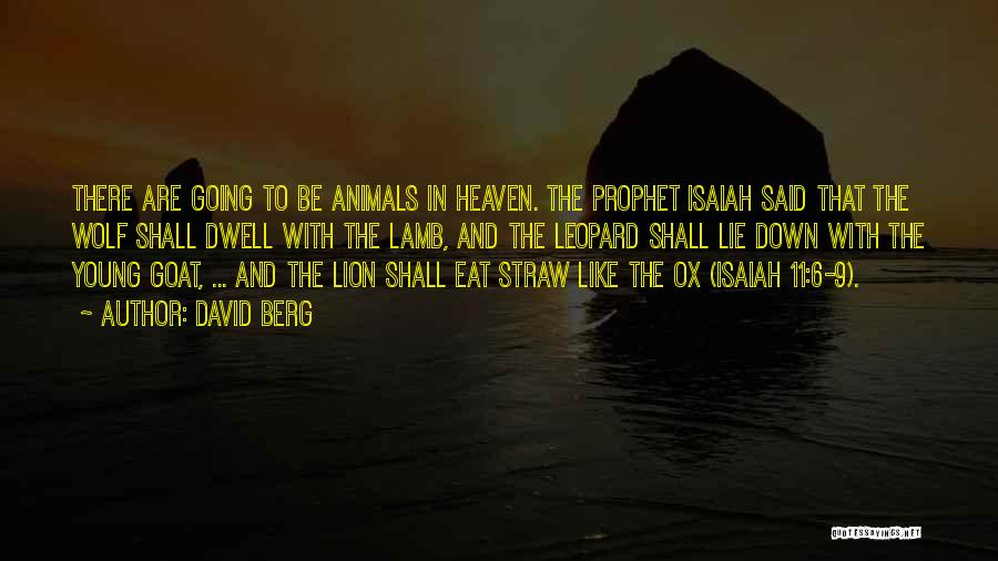 Lion And Lamb Quotes By David Berg