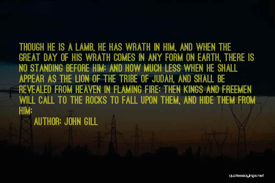 Lion And Lamb Quotes By John Gill