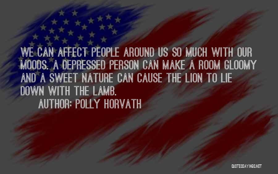 Lion And Lamb Quotes By Polly Horvath