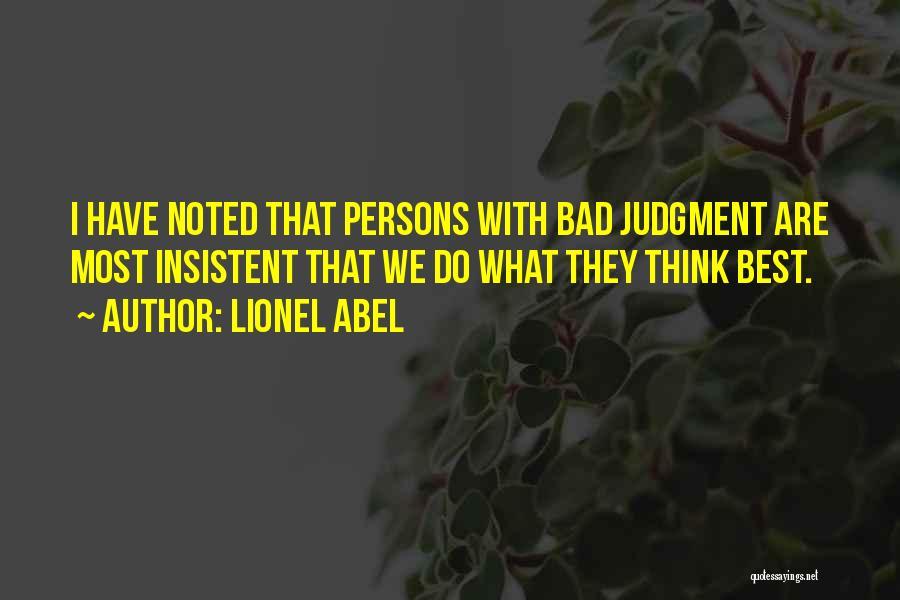 Lionel Abel Quotes 392835