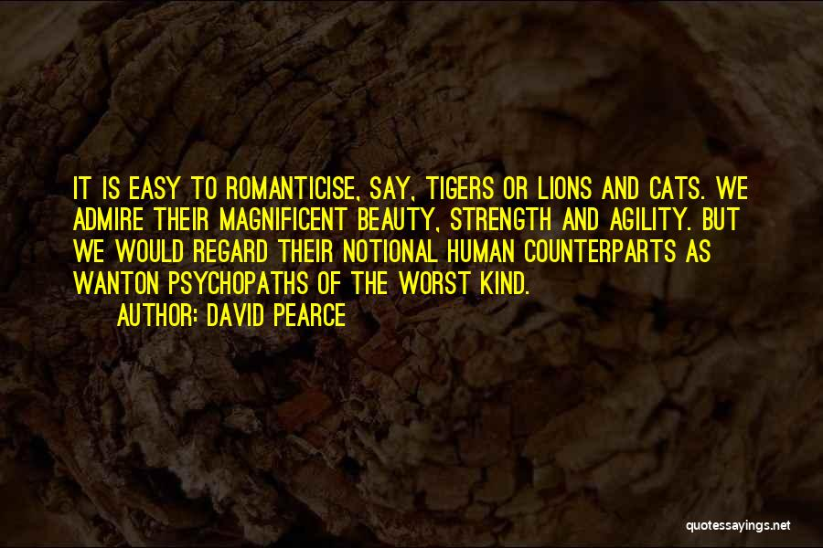 Lions And Beauty Quotes By David Pearce