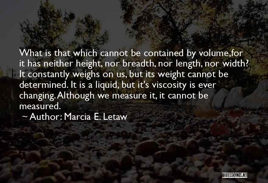 Liquid Quotes By Marcia E. Letaw