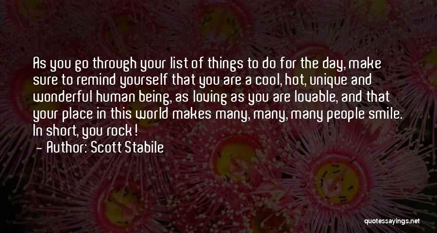 List Of Cool Quotes By Scott Stabile