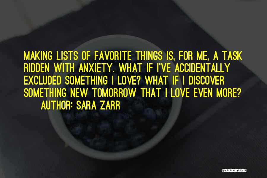 Lists Of Love Quotes By Sara Zarr