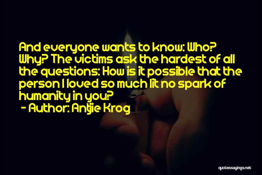 Lit Quotes By Antjie Krog