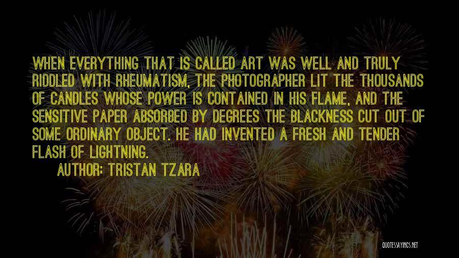 Lit Quotes By Tristan Tzara