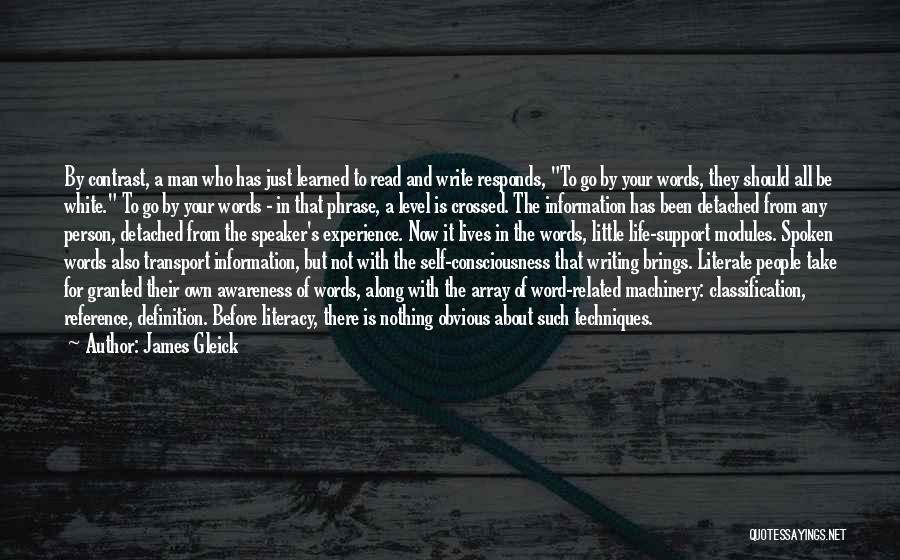 Literacy And Writing Quotes By James Gleick