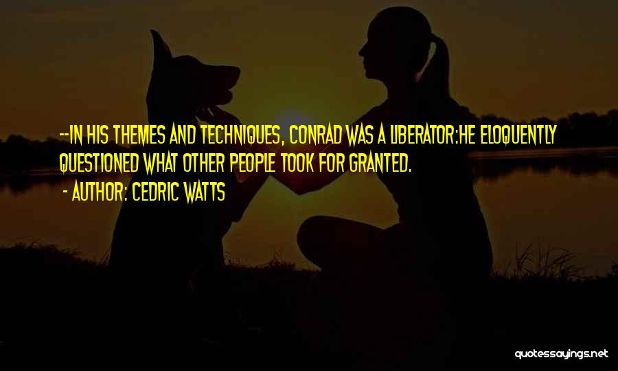 Literary Techniques Quotes By Cedric Watts