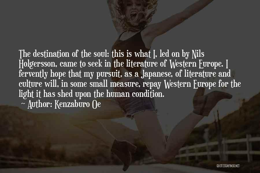 Literature And Culture Quotes By Kenzaburo Oe