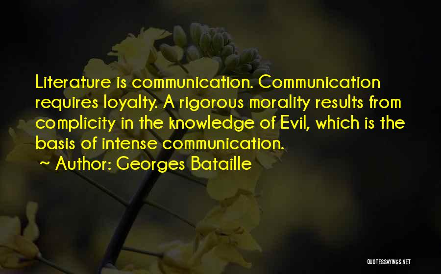 Literature And Morality Quotes By Georges Bataille