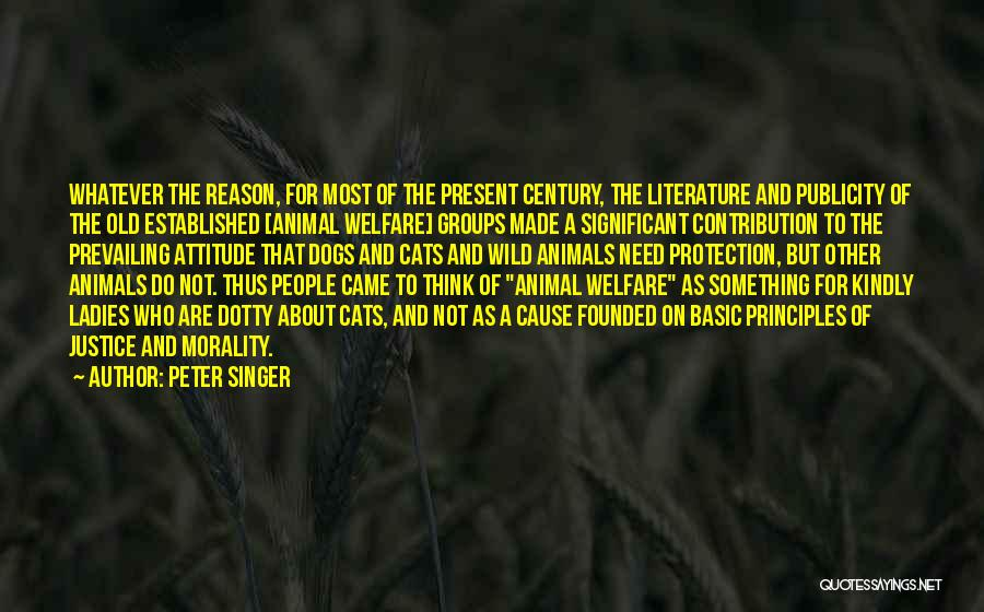 Literature And Morality Quotes By Peter Singer
