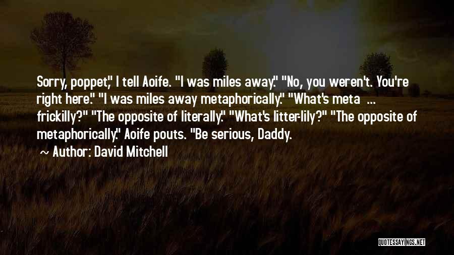 Litter Quotes By David Mitchell