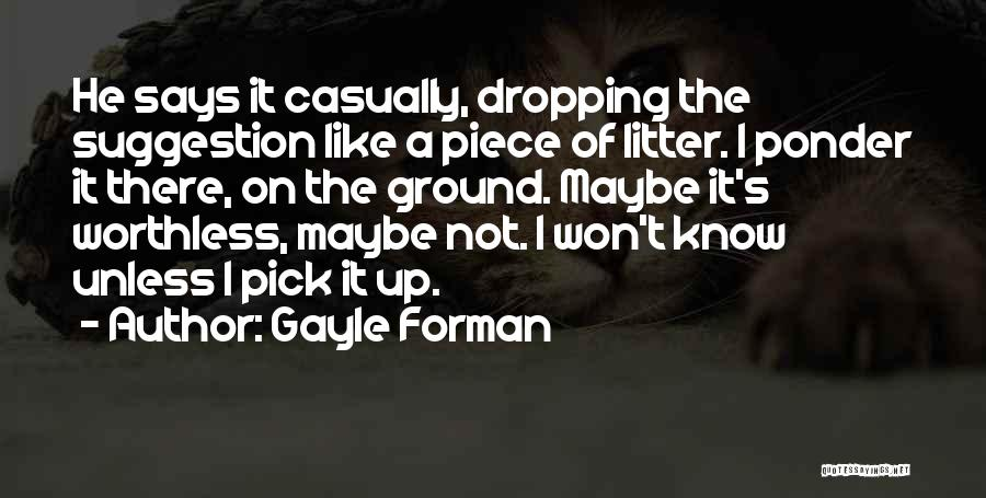 Litter Quotes By Gayle Forman