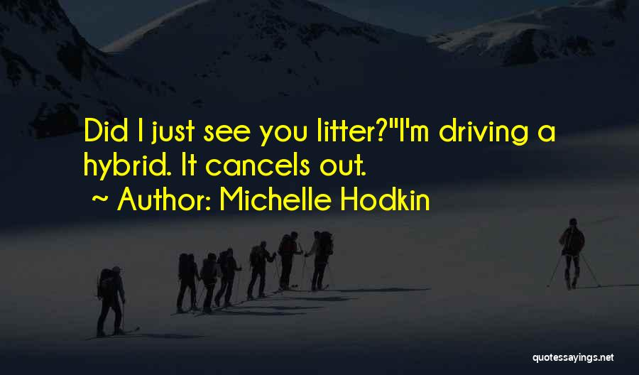 Litter Quotes By Michelle Hodkin