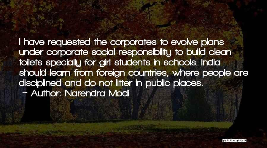 Litter Quotes By Narendra Modi