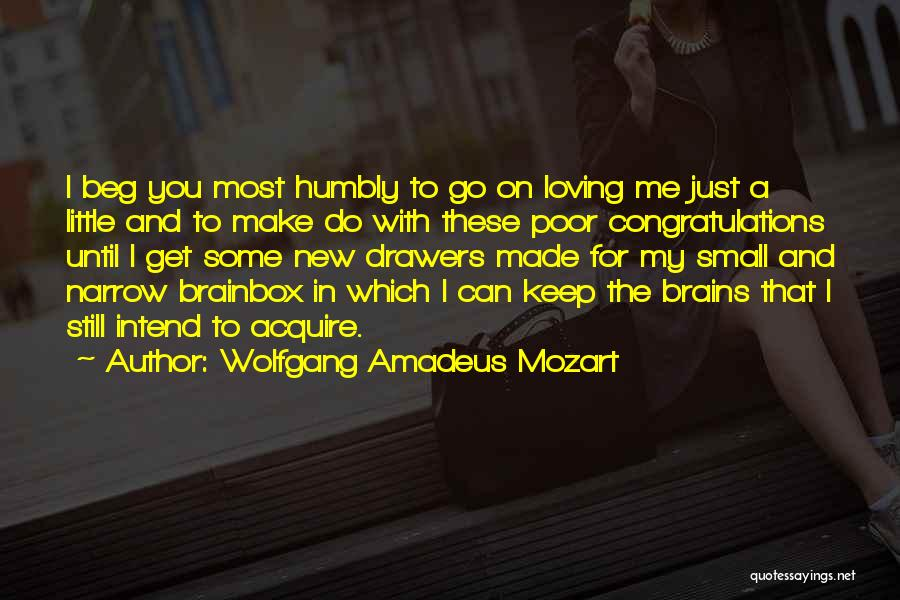 Little Brains Quotes By Wolfgang Amadeus Mozart